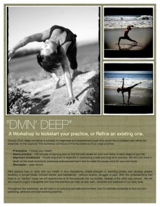 Grace Flowers Yoga - Diving Deep Workshop