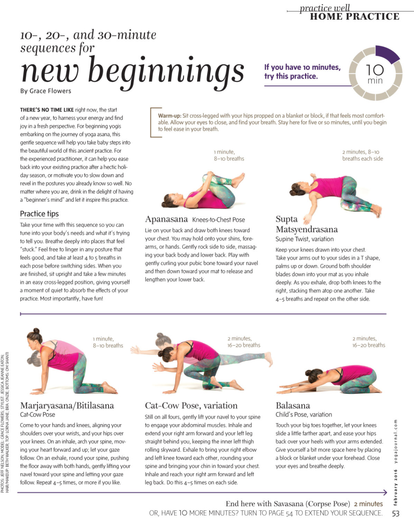 Grace Flowers - Yoga Journal - February 2016